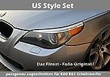 US Style Scheinwerfer Folie Set passend zugeschn. für BMW E60 E61 M 5 Paket LCI