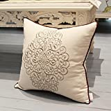 Rückenkissen Sie,Chinese Cotton Stickerei Büro Sofa Kissen,Kissen Bett Kissen-E 45x45cm(18x18inch)VersionA