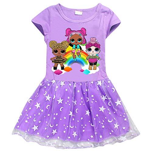 Vannie Surprise Dolls Mädchen Kleider Prinzessin Rock Tanzen Geburtstagsfeier Kleider Cosplay Rock für Halloween Party gutes Geschenk für Mädchen Tochter von 3 bis 8 Jahren PL 110 (Tutu Kleid Für Halloween)