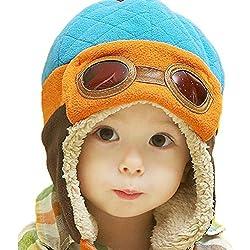 Gorros Bebé,Xinan Niño Niña Invierno Sombrero Piloto Tejer Earflap Sombreros (D)