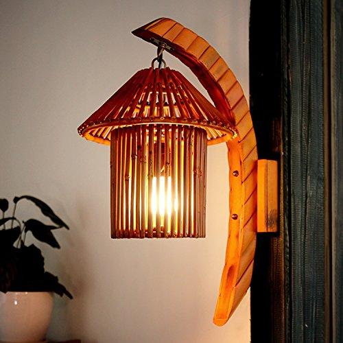 LES/ Natürlichem Bambus Wand Lampe/Süd-Ost-Asien/Cafe Bar/Bambus Lampen/Kunst/Farm Inn Gang Wandleuchte