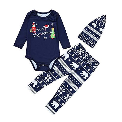 (Challeng Abstand Familie passende Pjs für Weihnachten hochwertige Pyjamas Nachtwäsche Brief drucken Top + Deer Hosen Familie Kleidung Nachtwäsche Outfits)