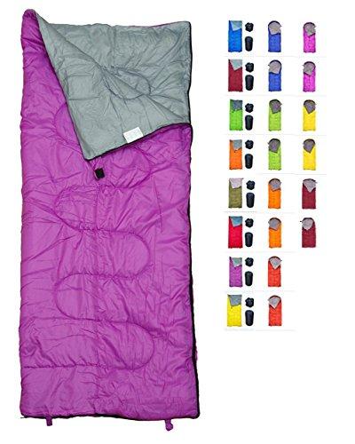 REVALCAMP Violett Schlafsack für Drinnen & Draußen. Toll für Kinder, Jungen, Mädchen, Jugendliche & Erwachsene. Ultraleichte und Kompakte Schlafsäcke sind ideal zum Wandern, Rucksackwandern & Camping