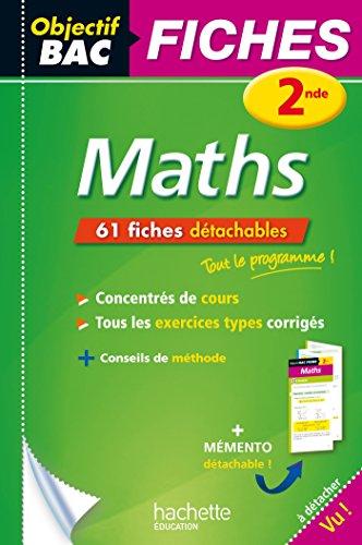 Objectif Bac Fiches détachables Maths 2nde par Dominique Dejean