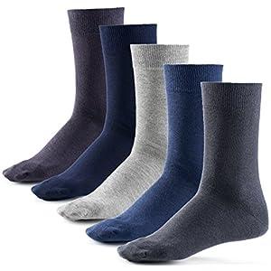 Mat & Vic's Calze, ottima qualità e comodità, OEKO-TEX 100 - 35 36 37 38 39 40 41 42 43 44 45 46 (10 paia, Jeans Colors, UK 6-8.5 / EU 39-42)