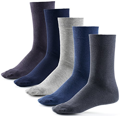 Mat and Vic's Cotton Classic Socken, 10 Paar,  größe 43/46,  Jeans Colors (Color-denim-jeans)