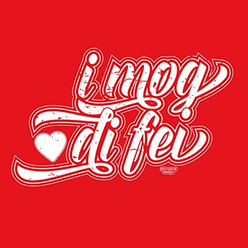 Geburtstagsgeschenk für Ihren Liebsten T-Shirt Geschenkidee Geburtstag I mog di fei Vatertag Übergröße Liebe Herren Farbe: rot Rot
