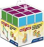 Geomag Magicube Free Building 128 - Cubi Magnetici per Bambini - Multicolore - Confezione da 27 Cubi