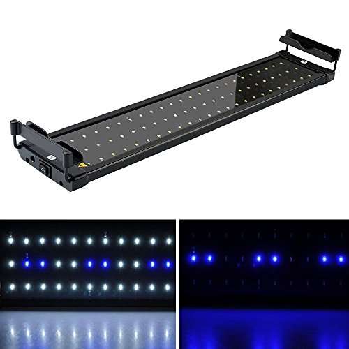 SolarNovo LED Aquarium BeleuchtungAufsetzleuchte IP67 Abdeckung LED Lampe AufsetzleuchteAbdeckungKlemmleuchte Clip Lampe für 30-90cm Aquarium (für Aquarium 50-70cm)