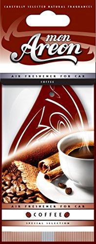 Areon Mon Deodorante Profumo Auto Caffè Marrone Da Appendere Pendente Specchietto Retrovisore Cartoni 2D Originali ( Coffee Confezione da 1 )