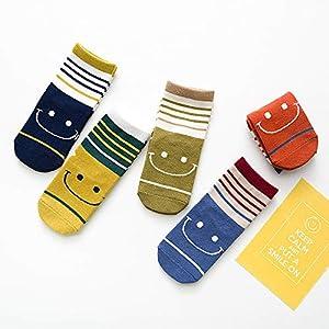 RUOHAN Kinder Socken 5 Paar Kindersocken Baumwollkindersocken Herbstneuheiten Sport-Socken Für Männer Und Frauen Baumwollsocken