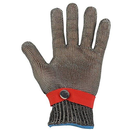 GXDHOME 316 Edelstahl Stahldraht Cut-Proof Handschuhe Clipping Schutzhandschuhe Stab-Proof Metall Eisen Handschuhe (einzelne Handschuhe) (größe : XL) -