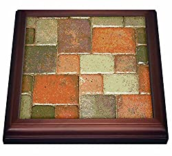 3dRose trv_11150_1 Design Like Copper Trivet with Ceramic Tile, 8 by 8, Brown