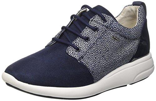 Geox d ophira a, scarpe da ginnastica basse donna, blu (denim/navyc4192), 38 eu