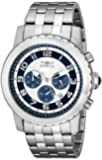 Invicta Specialty Men's Quartz Watch with Multicolour Dial Chronograph Display and Silver Stainless Steel Bracelet 19462