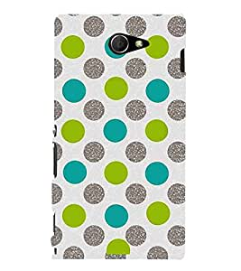 For Sony Xperia M2 Dual :: Sony Xperia M2 Dual D2302 polka pattern ( polka, circle, pattern, nice pattern, beautiful pattern ) Printed Designer Back Case Cover By Living Fill