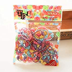 guangxichuangshengxinfu Multicolored Children's Beads Hair Ring Accessories Girls Baby Tied Hair Rope Magic