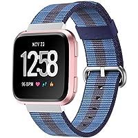 """HKFV Correas de repuesto para Fitbit Versa, diseño de arcoíris, Color B, Fits 4.92""""-7.48"""" (125mm-190mm) wrist."""