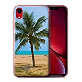 Stuff4 Coque Gel TPU de Coque pour Apple iPhone XR/Palmier Design/Thaïlande Paysage Collection