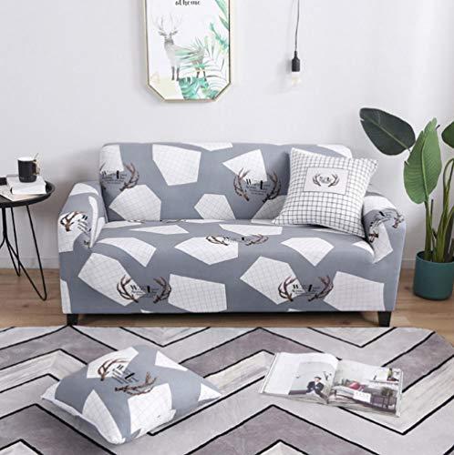 NHFGJ Funda para sofá 1/2/3/4 Funda Patrón de impresiónSofá Stretch Elastic Fabric...