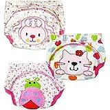 JZHY Pantalones 3 Pack entrenamiento del bebé del paño de algodón lavable para el niño niños