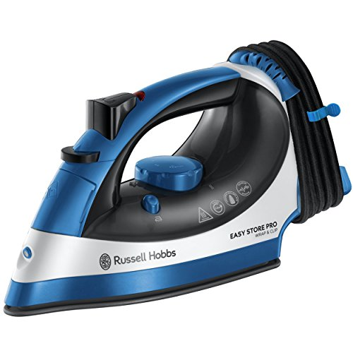 Russell Hobbs Easy Store Pro Iron 23770, 2400W - Blue and White Best Price and Cheapest