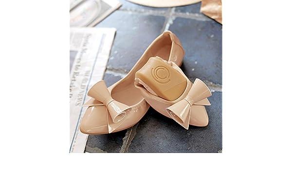 GAOLIM omelettes Femme Chaussures Fond plat à pointe unique Chaussures doux Fond plat confortable Chaussures Volume de femme enceinte Chaussures Femme Chaussures 1901, blanc, 33