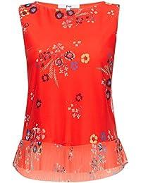 FIND Damen Bluse Peplum Printed