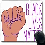 Mauspad Black Riot Lives Angelegenheit Menschliche Hand Stadt Faust Aktivismus Aktivist Afroamerikaner Demonstrant Rutschfeste Gaming-Computer Mauspad Mauspads 25X30cm