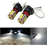 FEZZ LED Bombillas de Coche Auto LED H3 3014 57SMD Lamparas Iluminación Para faros antiniebla DRL 6000K Blanco (Paquete de 2)