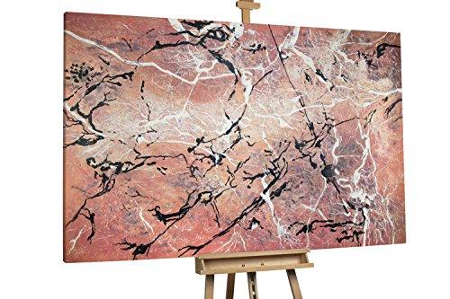 'Feuer und Eis' 180x120cm | Abstrakt Linien Rot XXL | Modernes Kunst Ölbild