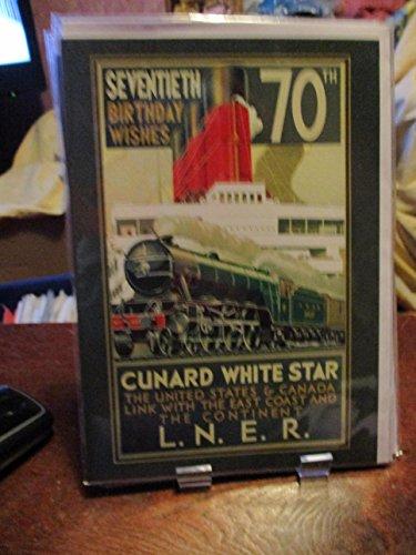 Siebzigsten Geburtstag Wishes Cunard White Star Karte -