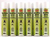 Insektenspray je 400ml (EUR 6,56/Liter) von BRAECO gegen Fliegen, Mücken und Motten Insektenabwehr Mückenspray (8 Flaschen)