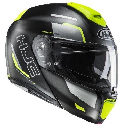 HJC Moto Casco Rpha 90robrigo mc4hsf, Negro/Amarillo, Tamaño S