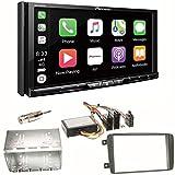 Pioneer AVH-Z9100DAB CarPlay Android Auto Digitalradio USB CD DVD Autoradio Touchscreen Moniceiver Navi Einbauset für Mercedes C-Klasse W203 CLK W208 W209