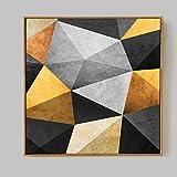 XWArtpic Abstrait Multi Couleurs Toile Peinture Moderne Géométrie Structure Murale...