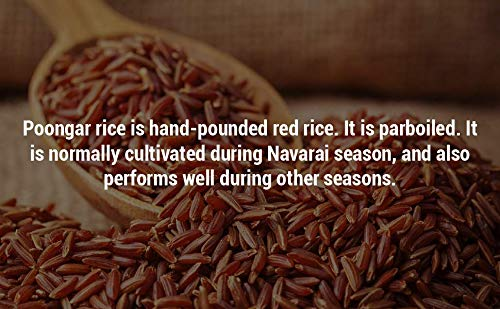 B&B Organics Hand Pounded Red/Poongar Rice (3kg), 3 kg