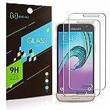 2X Samsung Galaxy J3 2016 Displayschutzfolie,Didisky® glatt anfühlen [Panzerglasfolie] Einfach zu säubern Lebenslange Garantie