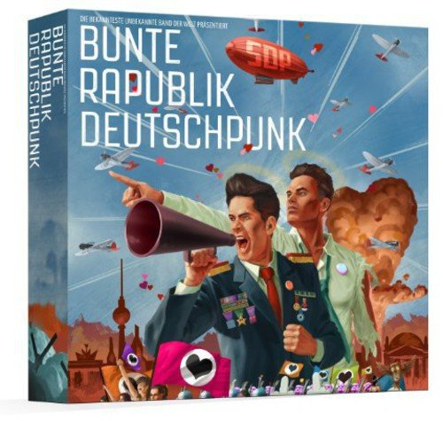 Bunte Rapublik Deutschpunk (Hip-hop-rock-punk-t-shirts)