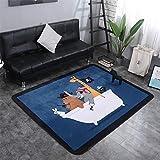 YQC Kinder Cartoon Piraten Teppich Komfortable Rutschfeste Wohnzimmer Schlafzimmer Baby Krabbeldecke,150 * 200cm