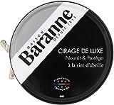 Baranne - Cirage de Luxe Noir Traditionnel à la Cire d'Abeille -  Nourrit, Protège, fait Briller et Ravive le Cuir des Chaussures  - Fabrication française - Lot de 4 boîtes de 75ml