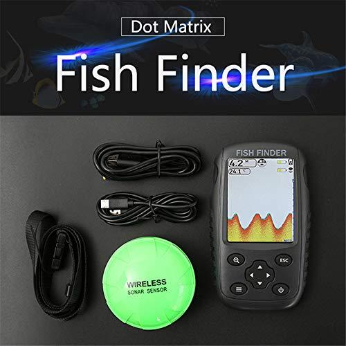 MHCYKJ Fish Finder Version Drahtloses Sonar Tragbares Wasserdichtes Konturthermometer Echolot Fishfinder Tragbaren Sonar-fishfinder