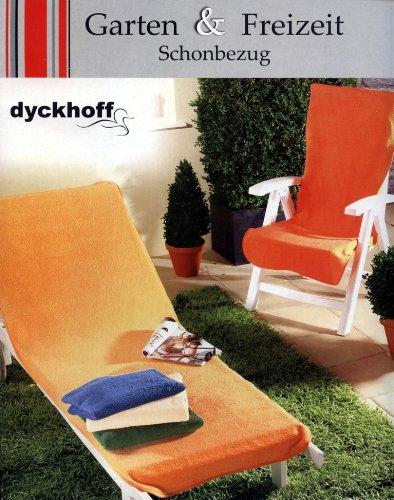 Frottierbezug DYCKHOFF Gartenstuhl Frotteebezug Stuhl Bezug Husse Schonbezug 130x60 ORANGE