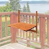 Balkontisch Holz 63 x 40 cm Balkonhängetisch Balkonmöbel Gartentisch