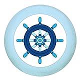 Traum Kind Holzgriff Möbelknopf Möbelgriff Möbelknauf Jungen hellblau dunkelblau blau