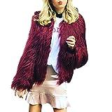 Mantel Damen Warm Faux Pelz Fox Jacke Parka Outerwear Von Xinan (XL, Wein)