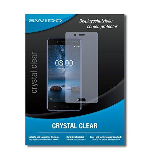 Galleria fotografica 3 x SWIDO® Pellicola Protettiva Nokia 8 Screen Protector Pellicola Protettiva Film CrystalClear invisibile