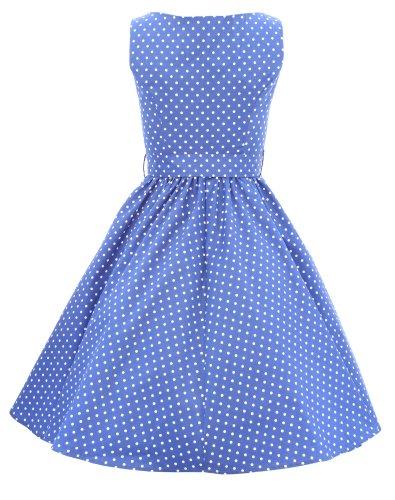 H r & london sons 9058 robe à manches longues pour femme Bleu - Bleu