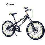 Kinderfahrräder Mountainbikes BMX Scheibenbremse,1 Geschwindigkeit,16In,18In,20 Zoll,Rot Blau Orange Grün,Green,18In