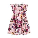 JERFER Mode Floral Sleeveless Baby Mädchen Kids Infant Kleinkind Party Kleidung Prinzessin Kleid